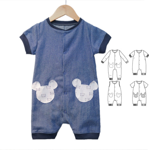 Ikatee - LISBOA jumpsuit / playsuit - Baby 6M/4Y - Paper Sewing Pattern