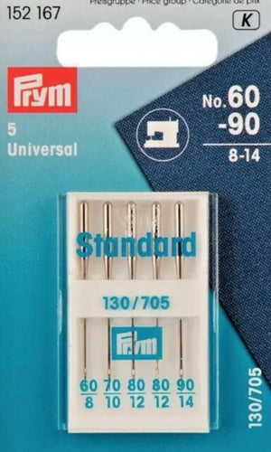 Prym Sewing Machine Needles  - Universal 60-90  8-14
