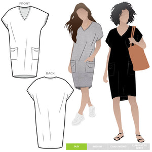Style ARC - Kitt Knit Dress (Sizes 18 - 30)  Sewing Pattern