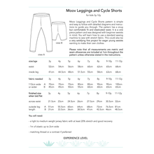 Dhurata Davies - Moov Leggings and Cycle Shorts (3-12 years) - Paper Sewing Pattern