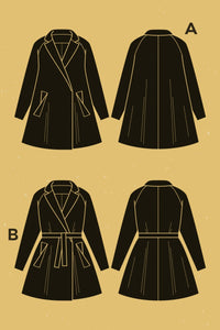 Deer & Doe - OPIUM MANTEAU COAT Sewing Pattern