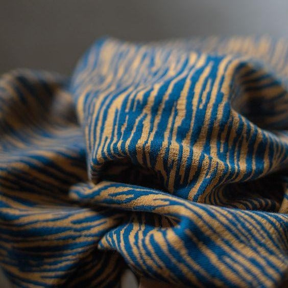 Mind The MAKER - Organic Bark Jacquard Ocean on Dry Mustard (more on the way)