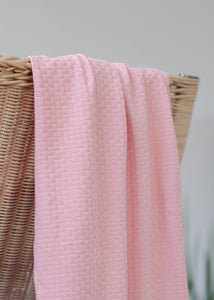 Mind The MAKER - Organic Wicker Knit Sweet Peach 180cm wide