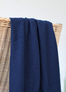 Mind The MAKER - Organic Wicker Knit Indigo Night 180cm wide