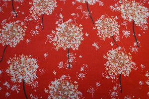 Lady McElroy - Pimpernal Scarlet Viscose Crepe Dress Fabric