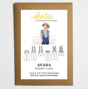 Ikatee - AVANA Shortpants / Trousers  3 -12 Years - Paper Sewing Pattern
