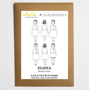 Ikatee - ELONA - blouse & dress - Girl 3/12 - Paper Sewing Pattern