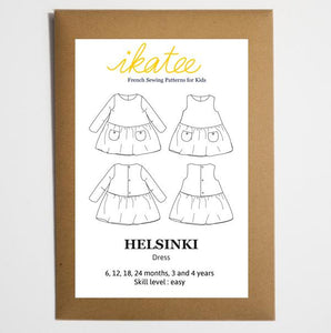 Ikatee - Helsinki dress - Baby Girl 6M/4Y - Paper Sewing Pattern