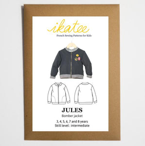 Ikatee - JULES Bomber Jacket / Vest - Unisex 3/8 - Paper Sewing Pattern