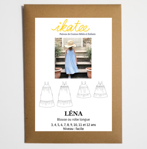 Ikatee - LENA Blouse / Long Dress  3-12 Years - Paper Sewing Pattern