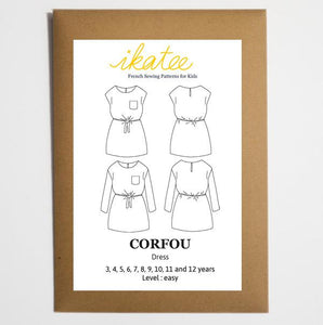 Ikatee - CORFOU Dress - Girl 3/12 - Paper Sewing Pattern
