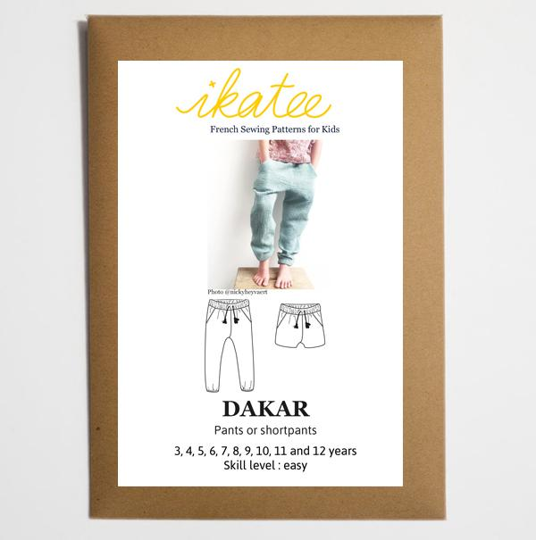 Ikatee - DAKAR Trousers / Shorts  3-12 Years - Paper Sewing Pattern