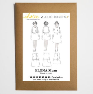 Ikatee - ELONA Mum - blouse & dress - 34/46 - Paper Sewing Pattern