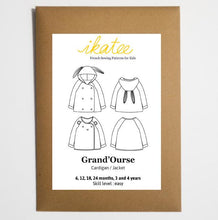 Ikatee - Grand'Ourse cardigan - Baby 6M/4Y - Paper Sewing Pattern