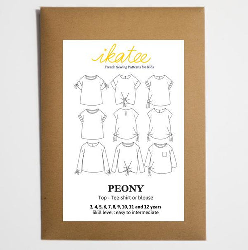 Ikatee - PEONY Top - Tee Shirt - Blouse - Ages 3-12  Paper Sewing Pattern