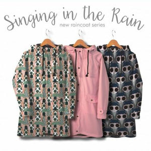 REMNANT 0.79 meter Shades in the Rain -  Water resistant raincoat fabric.