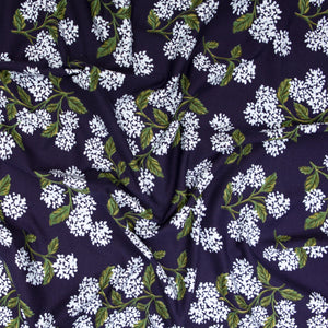 Rifle Paper Co - Hydrangea Navy Knit Dress Fabric from Meadow