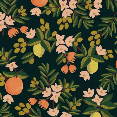 Rifle Paper Co - Citrus Floral Black  Canvas from Primavera