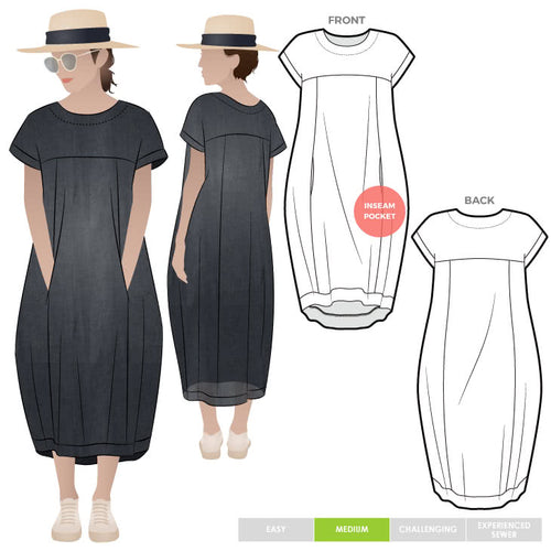 Style ARC - Sydney Designer Dress (Sizes 18 - 30)  Sewing Pattern