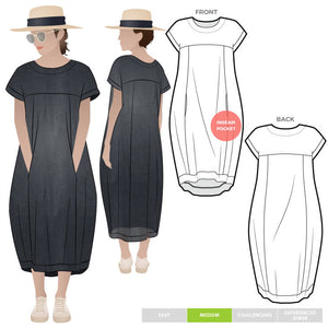 Style ARC - Sydney Designer Dress (Sizes 4 - 16)  Sewing Pattern
