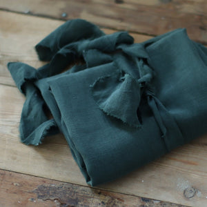 Meet MILK - Tencel / Linen Slub Deep Green Dress Fabric