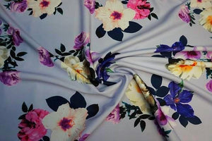 Lady McElroy - Violet Carnation Luxury Scuba Jersey Fabric