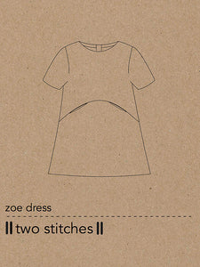 Two Stitches - Zoe Dress Sewing Pattern 6 months - 9 years