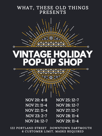 Vintage Holiday Pop Up Shop
