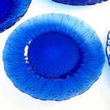 Cobalt Blue Glass 8 piece Dinner and Side Plate Set
