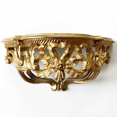 Gold Gilded Shelf