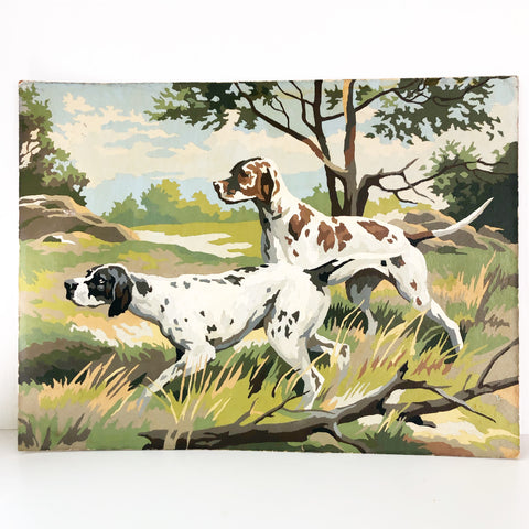 Foxhound Vintage Paint By Number Painting