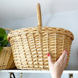 Large Handled Wicker Basket