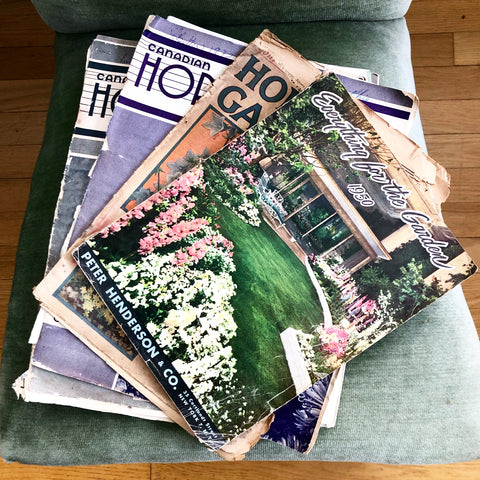 Set of 6 Vintage Gardening and Horticulture Magazines
