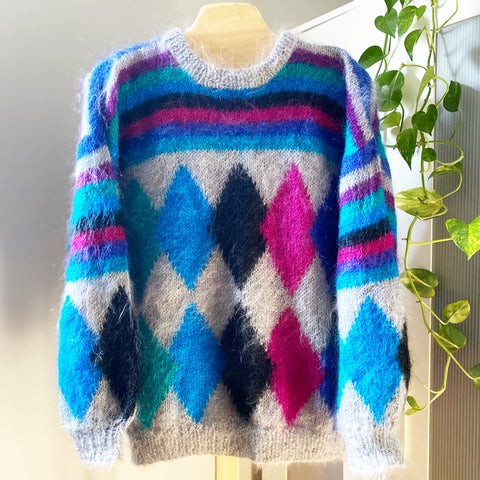 Mohair Diamond Sweater