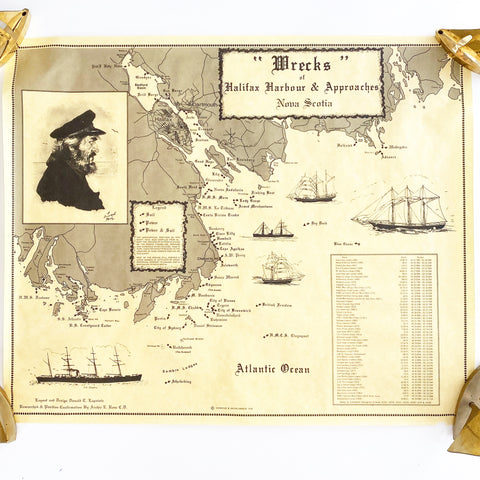 Shipwrecks of Halifax Harbour Map 1978