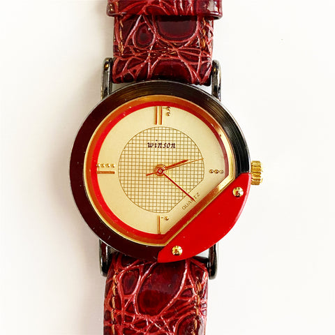 Winson Burgundy and Red Watch for @marilynbruce