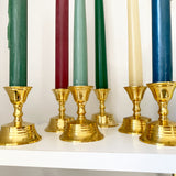 Set of 6 Brass Candlesticks