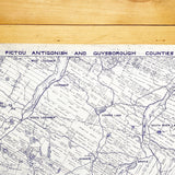 Pictou Antigonish and Guysborough Counties Grant Boundary Map 1953