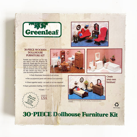 Greenleaf 1987 30 Piece Dollhouse Furniture Kit
