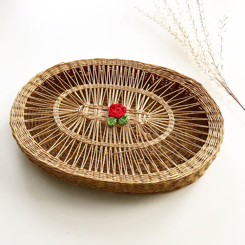 Small Covered Wicker Basket