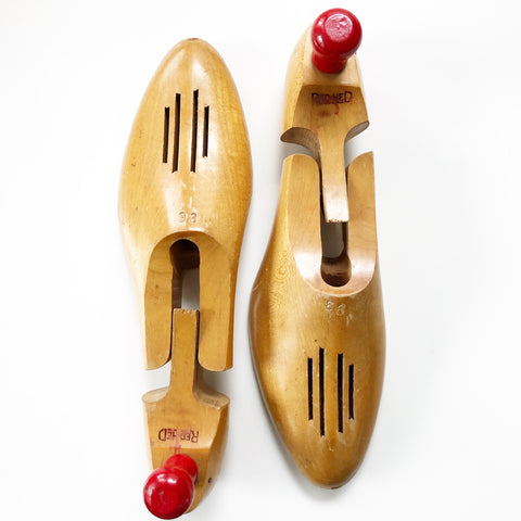 Set of Shoe Forms Vintage Blonde Wooden Red Hed Branded