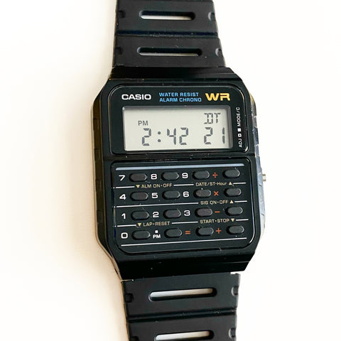 Casio Calculator Watch for @reason_for_paws