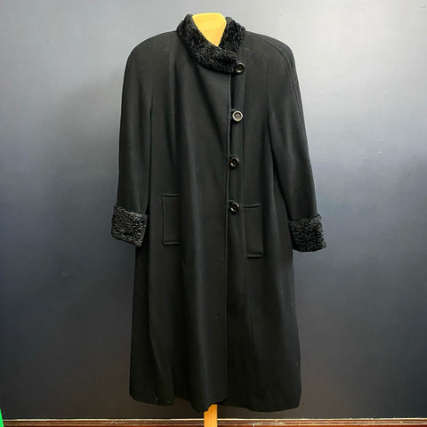 Mills Brothers Valencia Wool and Cashmere Black Coat