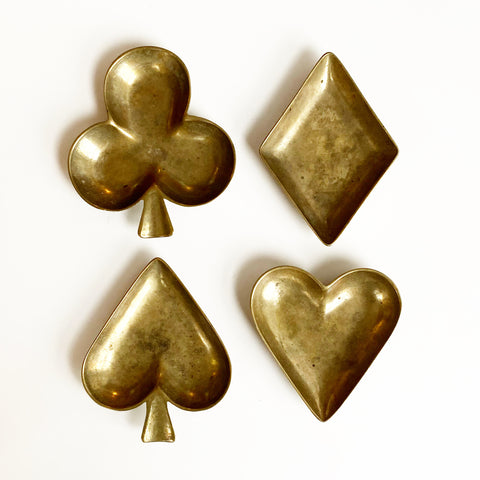 Brass Card Suit Catchalls