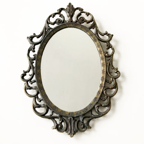 Small Ornate Italian Oval Mirror