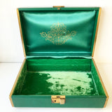 Vintage Green Jewelry Box