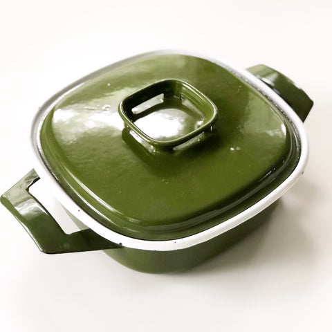 Avocado Enamel Cookpot Made in Poland