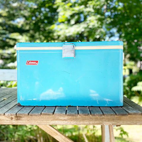 Retro Blue Coleman Cooler