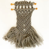 Vintage Grey Macrame Wall Hanging