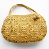 Yellow Woven Purse